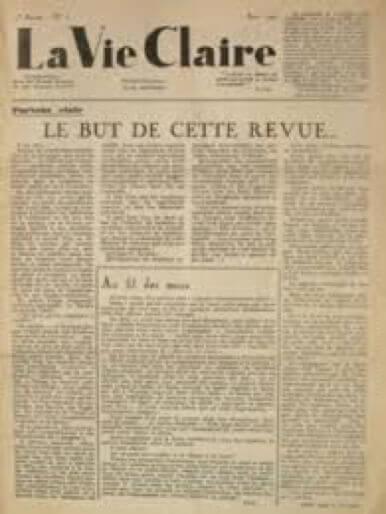 Revue La Vie Claire