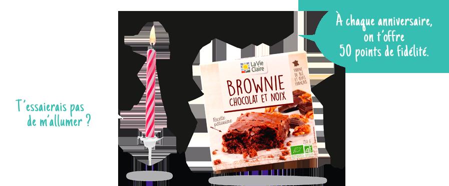Des points cadeaux à votre anniversaire