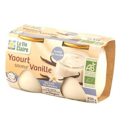 Yaourt au lait de brebis bio saveur vanille