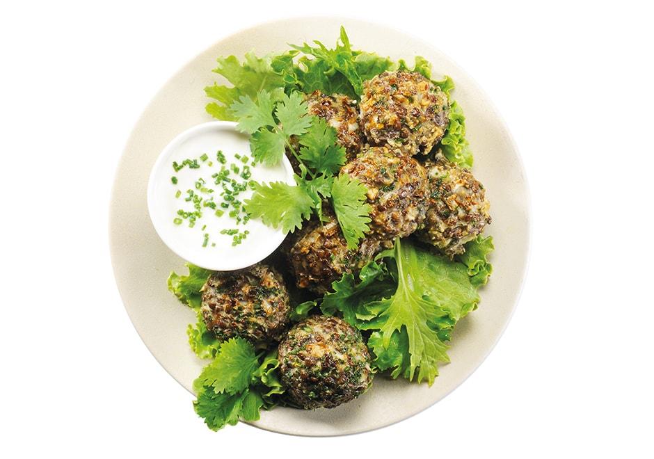 falafels aux algues