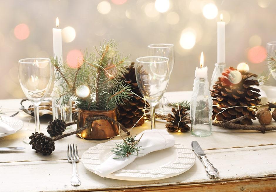 Une décoration de table lumineuse 1