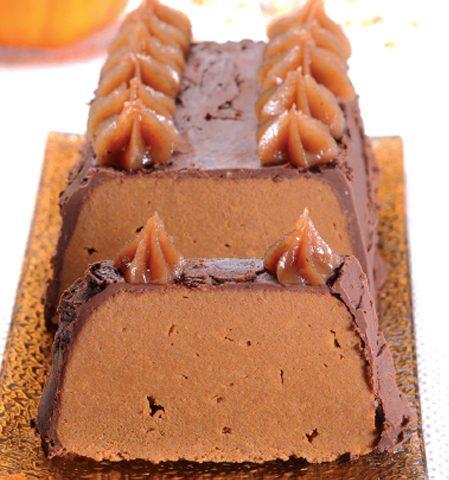 Bûche crémeuse chocolatée au délice de châtaigne