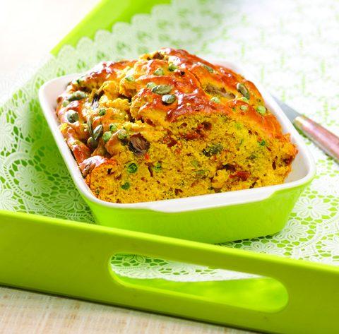 Cake aux légumes et au curry