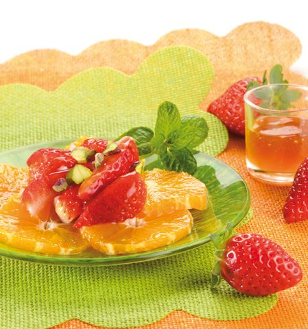 Carpaccio d'agrumes aux fraises