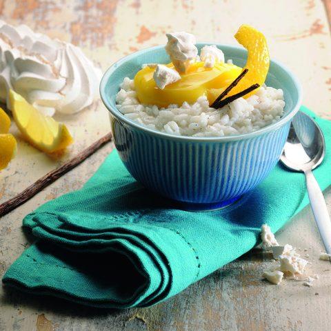 Cocotte de riz au lait et crémeux au citron