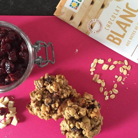 Cookies aux céréales et au chocolat blanc