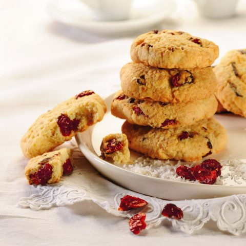 Cookies cranberries et coco