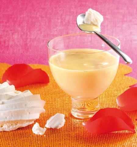 Crème anglaiseà la fleur d'oranger