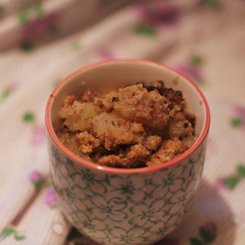 Crumble sans gluten aux fruits d'automne