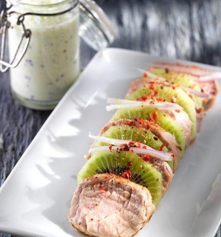 Filet mignon de porc aux kiwis