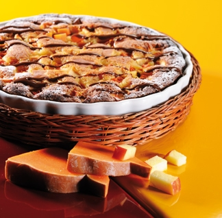 Gâteau pom'potimarron façon tarte nappée au chocolat