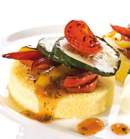 Gratin de polenta aux légumes
