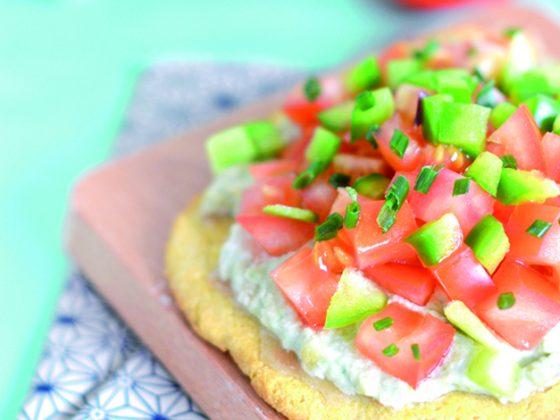 Mini pizza estivale - Vegan et Sans gluten