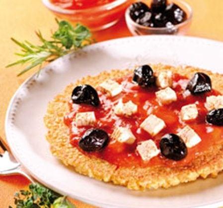 Pizza de millet à la poële