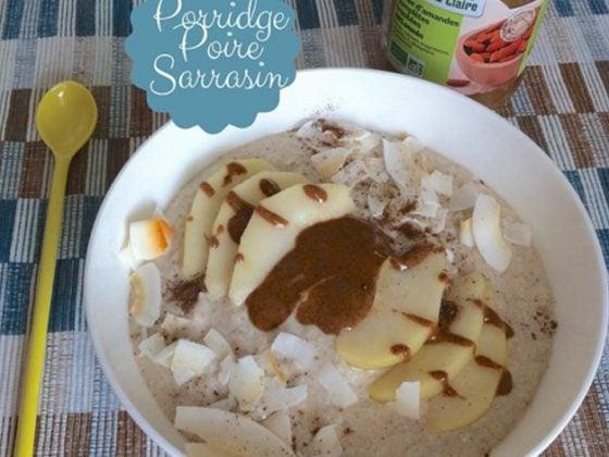 Porridge poire, gingembre et sarrasin
