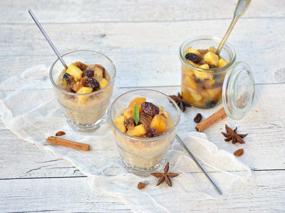 Riz au lait et ratatouille de fruits d'automne