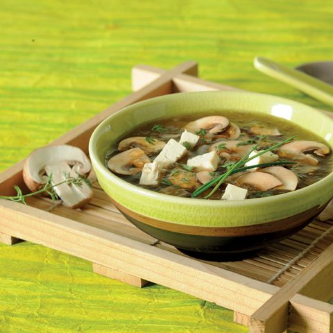 Soupe perles d'Asie au tamari