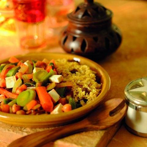 Tajine de tofu et millet sucré-salé