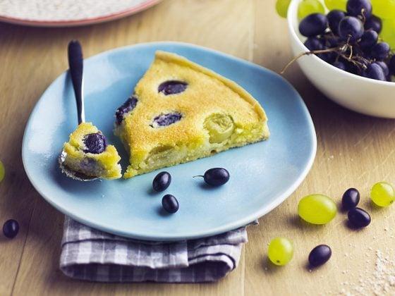 Tarte à la crème d'amandes et aux raisins