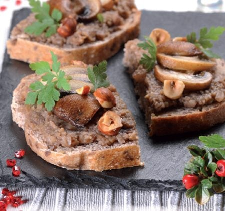 Tartinade forestière aux champignons shiitake