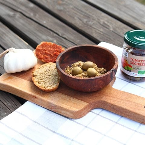 Tartinades express : olivade et caviar de tomates séchées