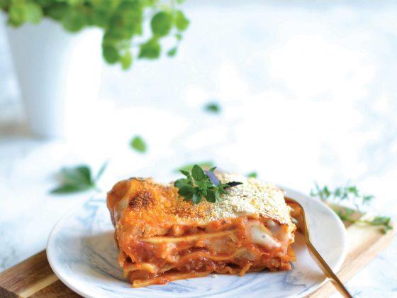 Lasagnes végétales tomate-poireau