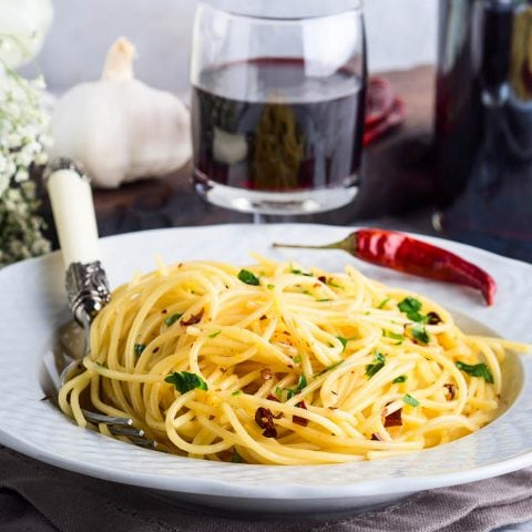 Spaghettis au gingembre et à l'ail