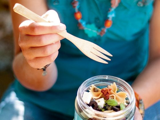 Salade de pâtes vegan (et délicieusement umami)