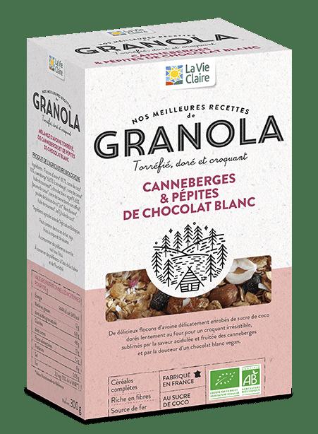 Cookies bio au Granola canneberges et chocolat blanc