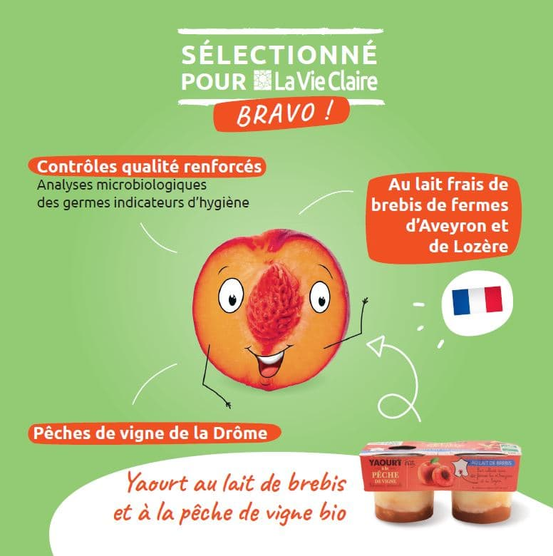 yaourt peche bio La Vie Claire