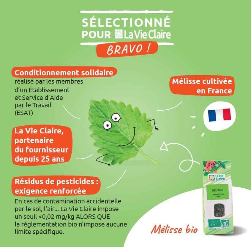 Mélisse bio La Vie Claire