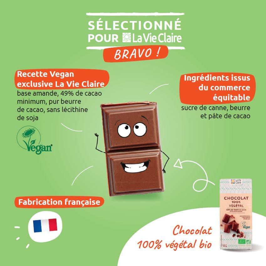 chocolat vegan bio la vie claire