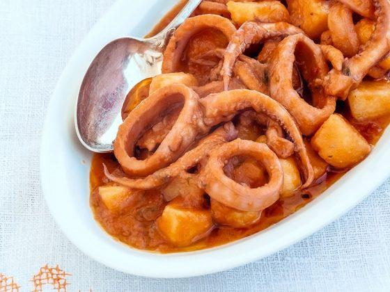 Seiche en sauce aux pommes de terre