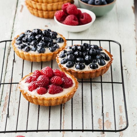 Tartelettes granola aux fruits rouges