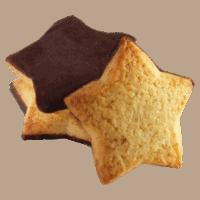 Biscuits étoiles à l'orange et au chocolat noir bio