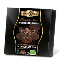 Coffret assortiment de chocolats pures origines bio