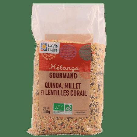 Mélange quinoa, millet et lentilles corail bio