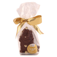 Petit Père Noël au chocolat au lait bio et ses billes croustillantes aux 3 chocolats bio