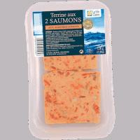 Terrine aux 2 saumons aux agrumes confits