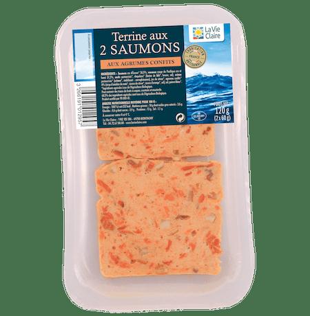 Terrine aux 2 saumons aux agrumes con ts