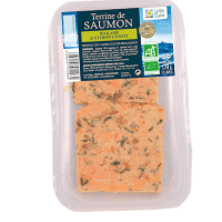 Terrine de saumon bio au wakamé et citrons confits
