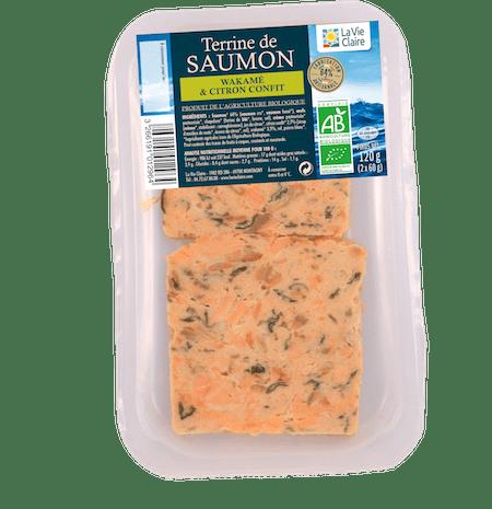 Terrine de saumon bio au wakamé et citrons con ts