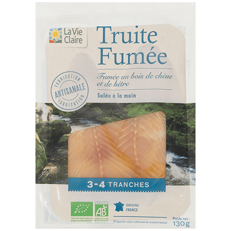Truite blanche fumée bio 3-4 tranches 1