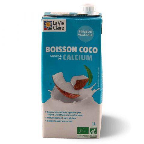 Boisson lait coco calcium