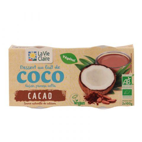 Dessert au lait de coco façon panna cotta cacao