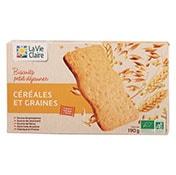 biscuits petit dej céréales et graines bio