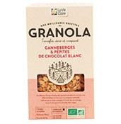 Petit déjeuner bio agranola bio canneberge et pépites de chocolat blancd'hiver