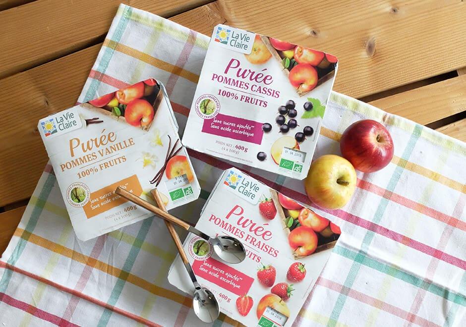 purées de fruits bio la vie claire