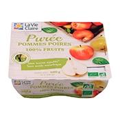 purée de pommes poires bio la vie claire