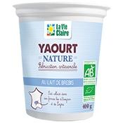 Yaourt nature au lait de brebis bio La Vie Claire